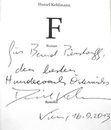 Daniel-Kehlmann-Widmung